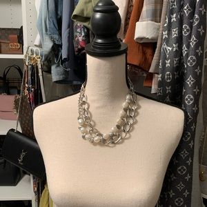 multipurpose double layer pearl necklace
